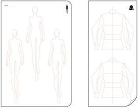 sketchbook templates templates from fashionary