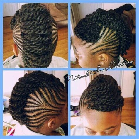 pin up for kinky twist mohawk flat twist up hair do s pinterest more flat