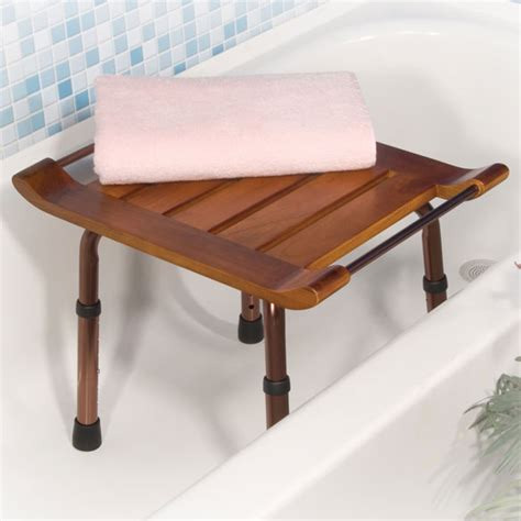 bathroom bench height adjustable height teak bath bench adjustable bench