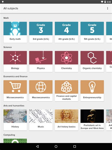 khan academy app for android khan academy 187 apk thing android apps free