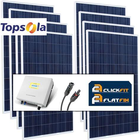 zonnepanelen pakket aanbieding 10 zonnepanelen topsola compleet pakket 2400 wp duurzame