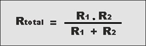 resistors connected in parallel equation series parallel resistor formula calculation radio electronics