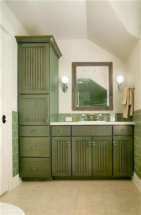 Green stained cabinets in bathroom dome home ideas pinterest
