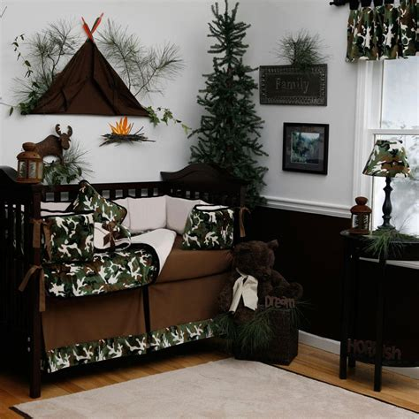 Outdoor Themed Crib Bedding Camo Baby Bedding Green Camo Crib Bedding Carousel Designs