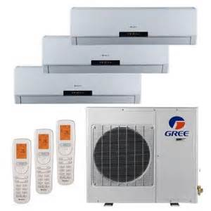 home depot split ac gree multi zone 36 000 btu 3 0 ton ductless mini split