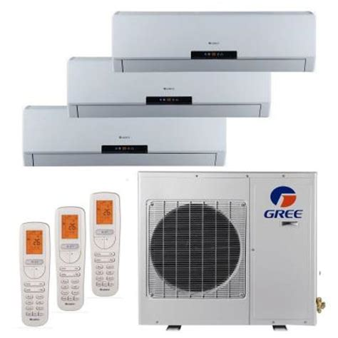 gree multi zone 36 000 btu 3 0 ton ductless mini split