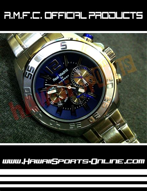 Jam Tangan Rantai Bola Madrid toko olahraga hawaii sports jam tangan real madrid