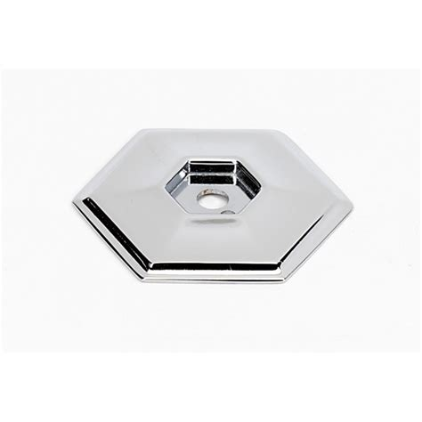 chrome backplates cabinet knobs polished chrome hexagon backplate 1 5 quot knobs n knockers