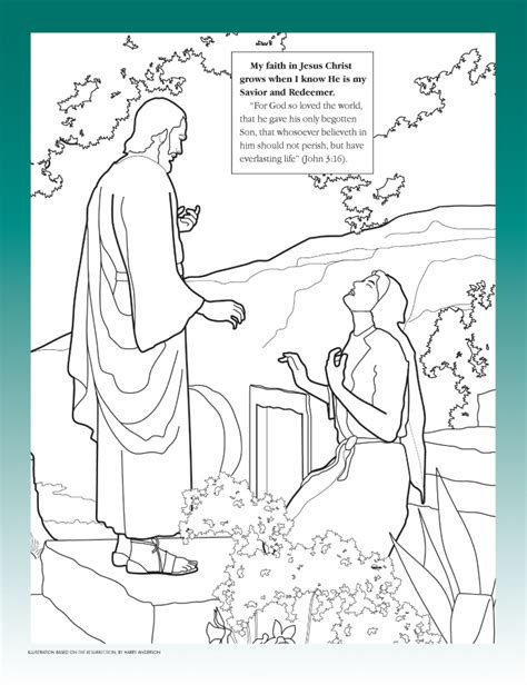 coloring page for resurrection easter coloring page lds lesson ideas