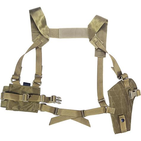 molle system flyye shoulder holster system panel molle khaki holsters