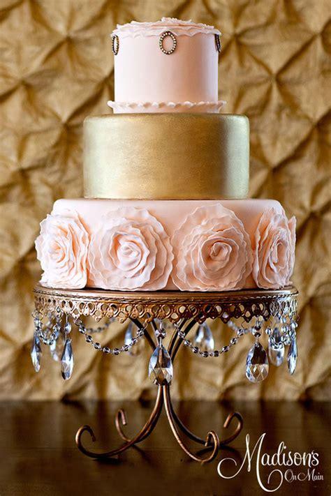 Golden Wedding by Gold Wedding Cakes The Magazine