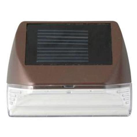 solar mini lights home depot moonrays solar powered mini led bronze outdoor deck light