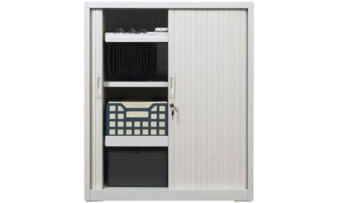 metal storage cabinet with sliding doors tambour sliding door storage cabinet metal silver 1090h x 900w