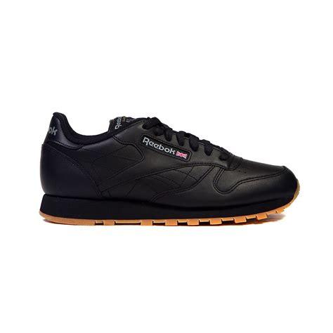 s reebok sneakers reebok classic leather black gum s shoes 49798 ebay