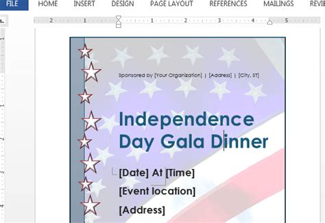 Independence Day Flyer Template For Word Powerpoint Presentation Create Your Own Brochure Templates Free