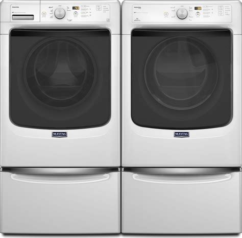 Maytag Maxima Pedestal Maytag Mhw5100dw Front Load Washer Amp Med5100dw Electric