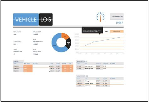 ms excel vehicle log book template word amp excel templates