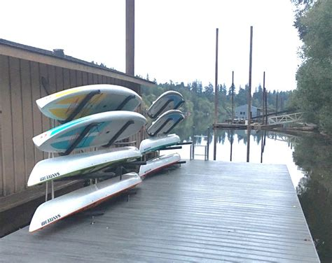 boat dock kayak storage stainless steel sup and kayak rack customizable outdoor