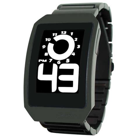Montre Phosphor Digital Hour Black Boitier et bracelet métal noir   Montres pour homme   Idées