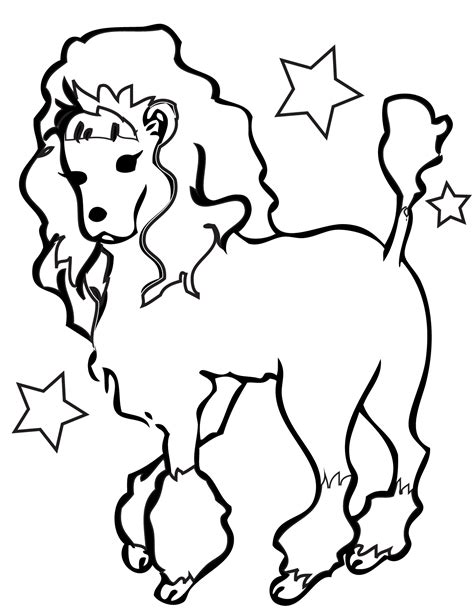 cool coloring pages of dogs poodle coloring page handipoints