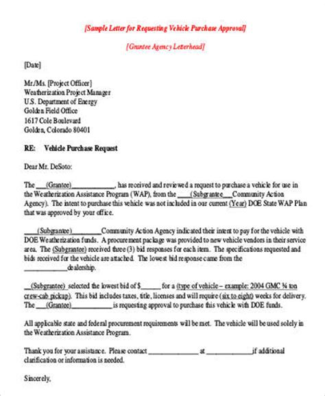 Official Letter Asking For Approval Request Letters Format