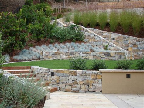 Uphill Backyard Landscaping by Landscaping Ideas For Hillside Backyard Slope Solutions
