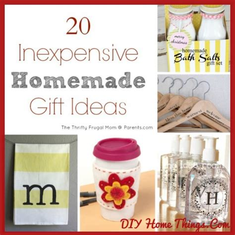 The Best Handmade Gifts - 20 inexpensive gift ideas diy home things