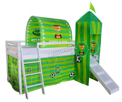 Bunk Bed Tent Only Foxhunter Children Wooden Mid Sleeper Cabin Bunk Bed Tent Single 3ft Footbal Ebay