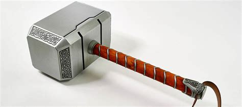 thor hammer made from steel with stand swords more