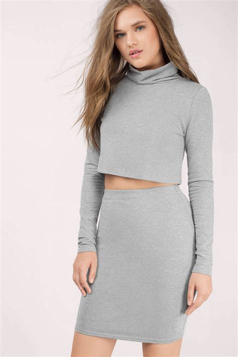 Big Size Dress Casual Black Bell Sleeve Branded Murah grey bodycon dress grey dress