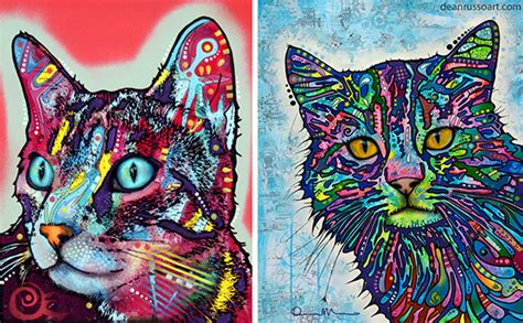 Home Decor For Sale Online Colorful Cat Portraits By Dean Russo Hauspanther