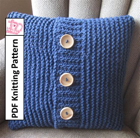 Pillow Cover Patterns by Knit Pattern Pdf Knit Pillow Cover Pattern Simple