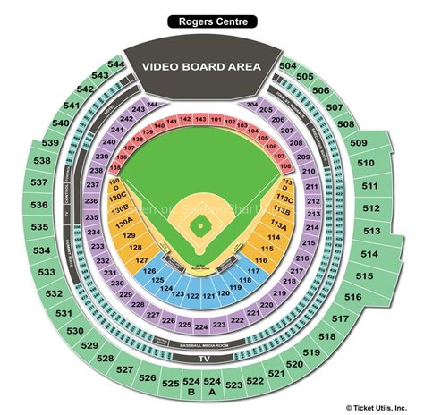 rogers centre toronto on seating chart view