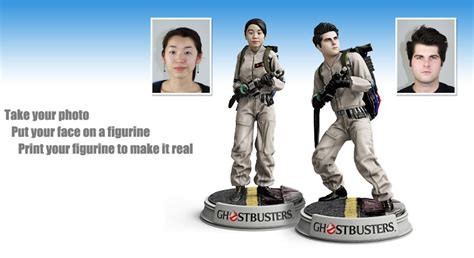 figure yourself turn yourself into a 3d printed ghostbuster figurine