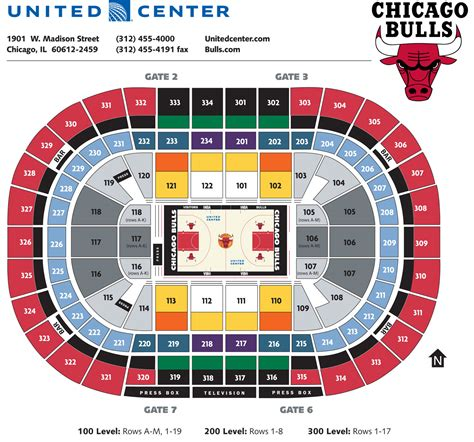 united center seating map united center seating diagram and parking chicago bulls