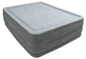 intex comfort plush high rise air mattress with