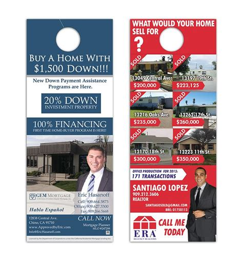 Nice Real Estate Door Hangers Ideas With 12 Best Real Estate Door Hangers Images On Pinterest Real Estate Door Hanger Templates
