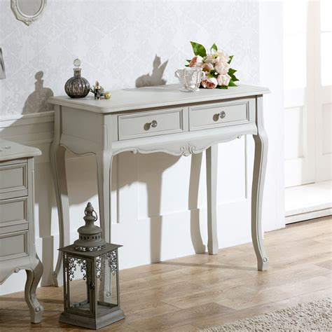 shabby chic table for bedroom grey wooden ornate console dressing table shabby french
