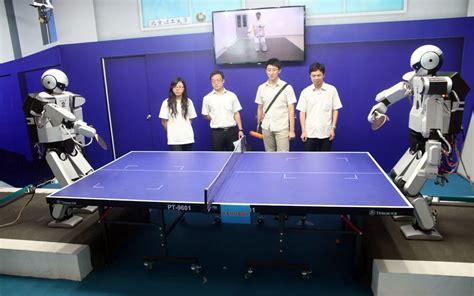 chinese robots play ping pong