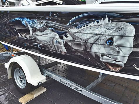 boat wraps tweed heads custom boat wrapping wrap district