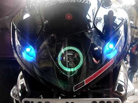 Lu Projector Pulsar 220 color changing projector headlight honda zmr by mxsmotosport