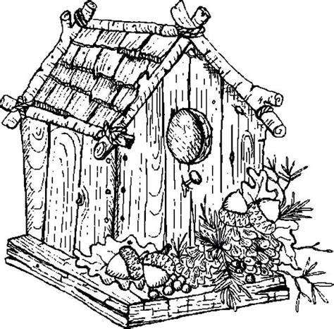 coloring pages bird houses traditional bird house coloring pages best place to color