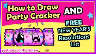 things do home new years how to draw easy cracker free fun2draw new