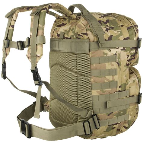 backpack with molle webbing mfh backpack assault ii molle webbing rucksack hiking operation camo ebay