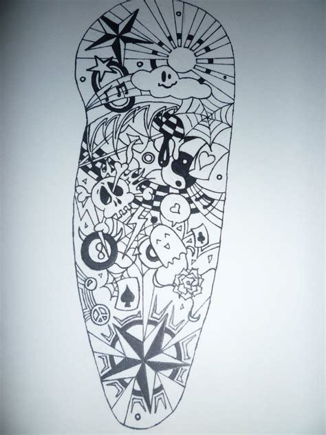 black and white half sleeve by aalleeexx on deviantart