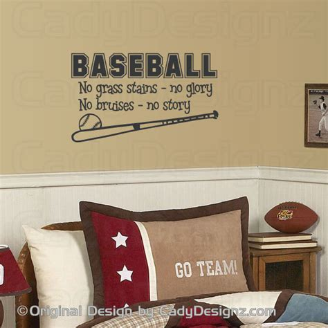 Baseball Vinyl Wall Decal Sports Wall Decals Childrens Sports Wall Decals For Nursery