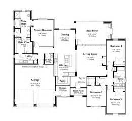 floor plans for country homes house plan 2370 square country home style
