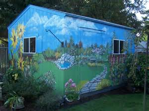 Outdoor Murals Dress Up Sheds Garages And Blank Walls