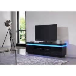 flash meuble tv contemporain en bois avec leds