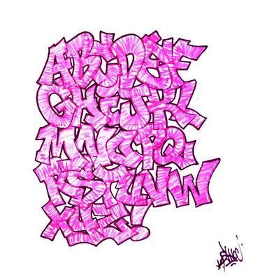 color abcdef graffiti alphabet